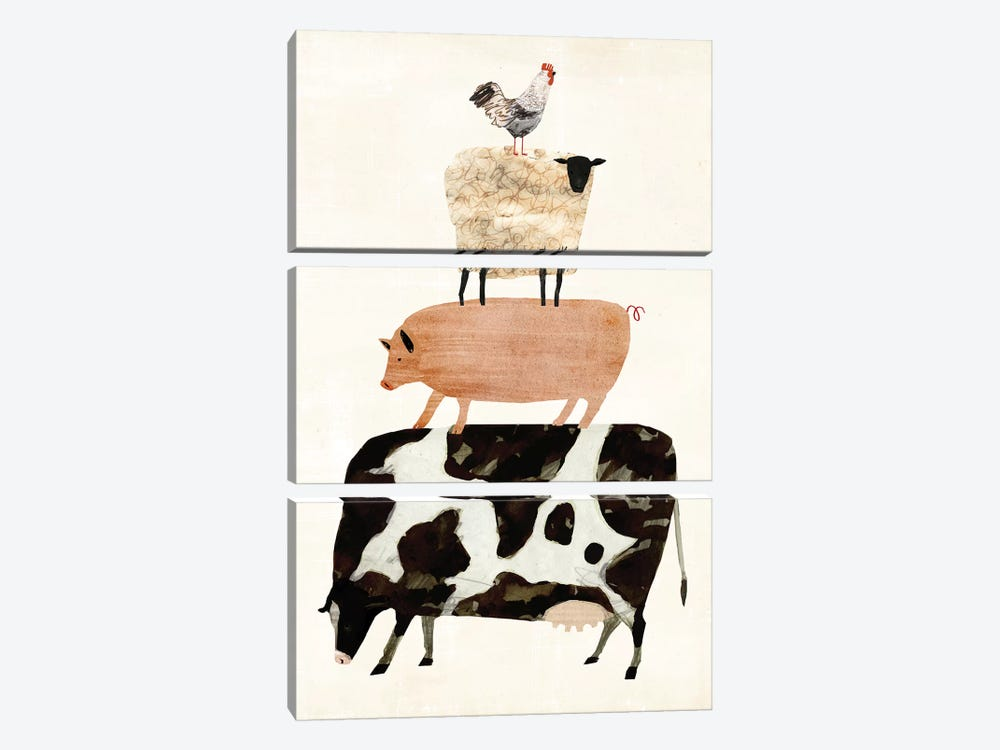 Barnyard Buds III by Victoria Borges 3-piece Canvas Print