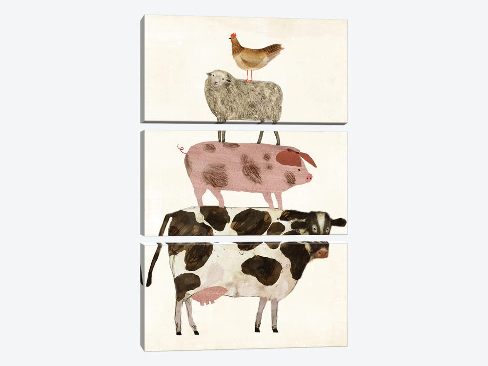 Barnyard Buds IV by Victoria Borges 3-piece Canvas Art