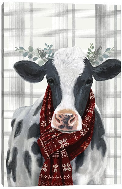 Yuletide Cow I Canvas Art Print