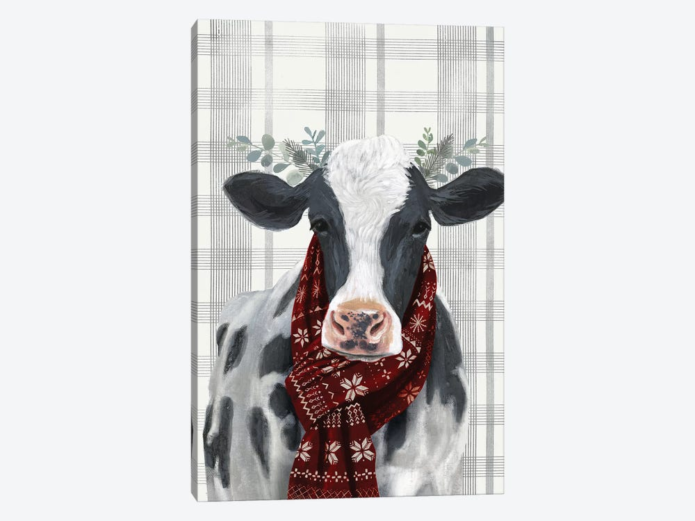 Yuletide Cow I by Victoria Borges 1-piece Art Print
