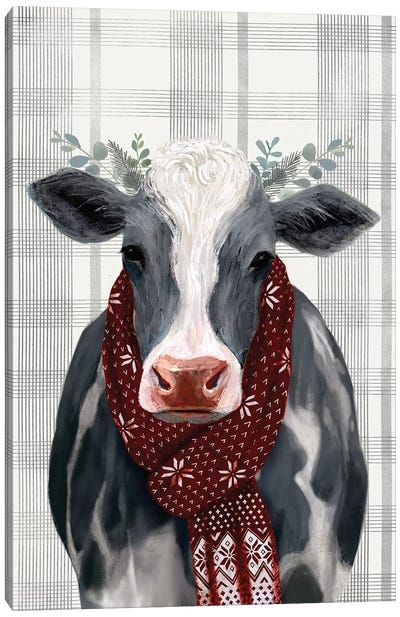Yuletide Cow II Canvas Art Print