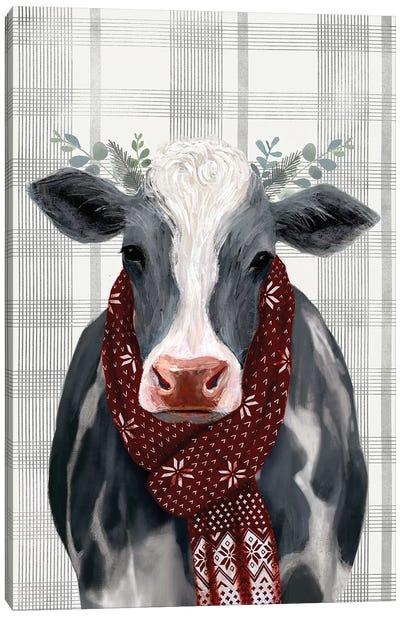 Yuletide Cow II Canvas Art Print