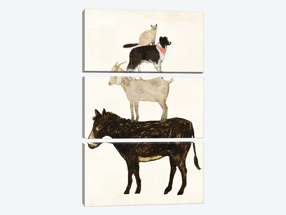 Barnyard Buds VI by Victoria Borges 3-piece Canvas Artwork