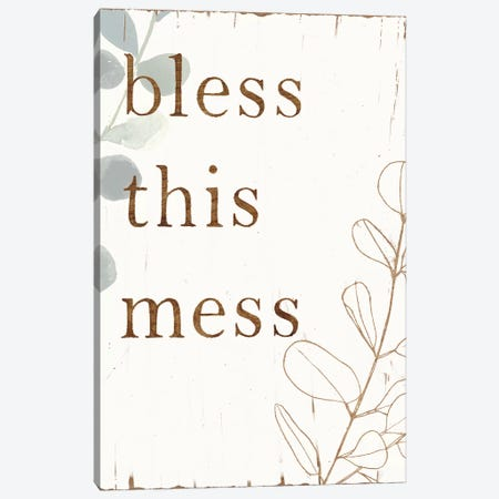 Farmhouse Mantra I Canvas Print #VBO207} by Victoria Borges Canvas Artwork