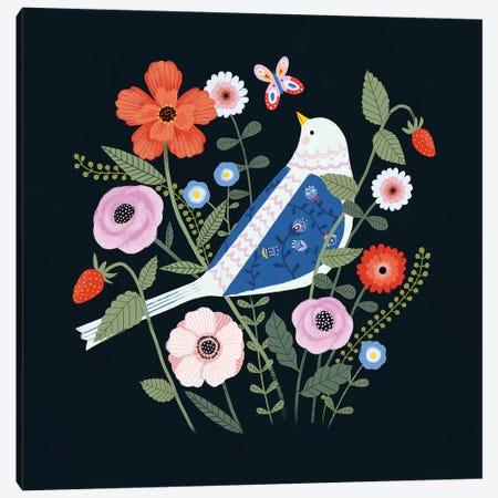 Folk Garden I Canvas Print #VBO209} by Victoria Borges Canvas Art Print