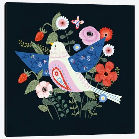 Folk Garden II Canvas Print #VBO210} by Victoria Borges Canvas Artwork