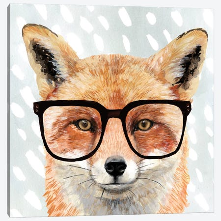 Four-eyed Forester I Canvas Print #VBO213} by Victoria Borges Canvas Wall Art