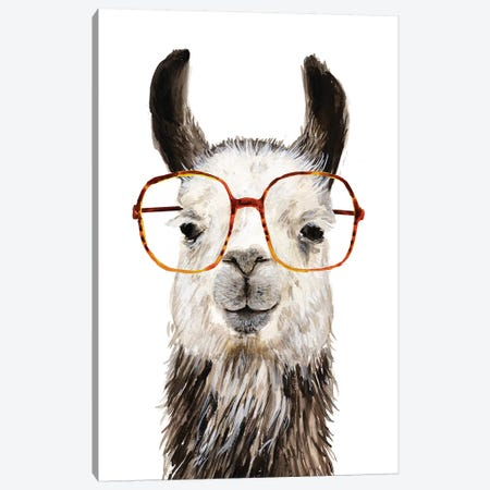 Hip Llama III Canvas Print #VBO223} by Victoria Borges Canvas Print