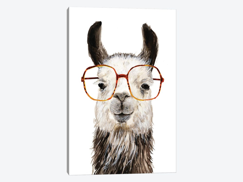 Hip Llama III by Victoria Borges 1-piece Canvas Art Print