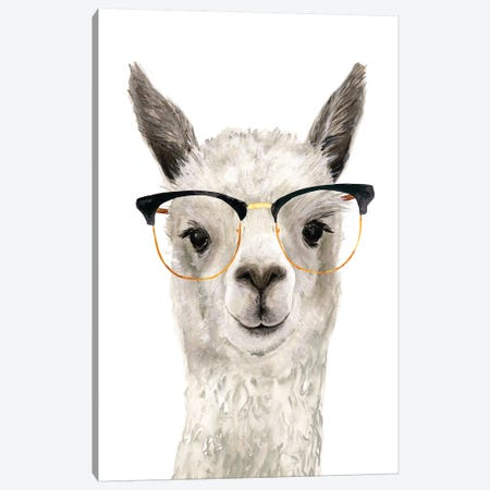 Hip Llama IV Canvas Print #VBO224} by Victoria Borges Canvas Wall Art