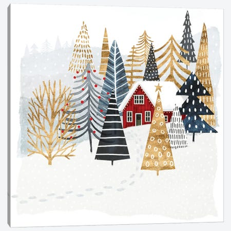 Christmas Chalet I Canvas Print #VBO23} by Victoria Borges Art Print
