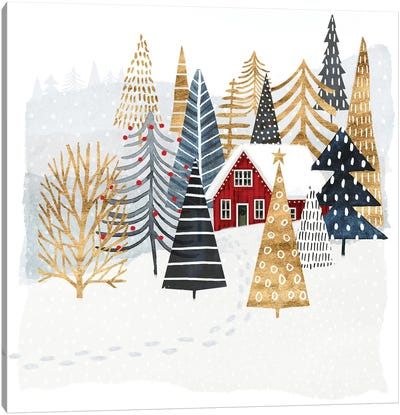 Christmas Chalet I Canvas Art Print