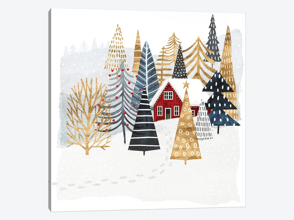 Christmas Chalet I by Victoria Borges 1-piece Canvas Artwork