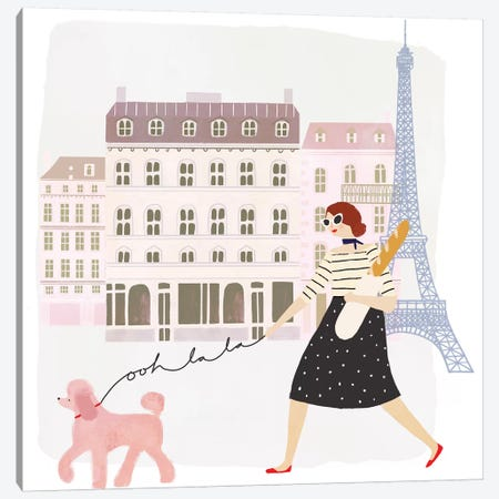 Paris People I Canvas Print #VBO243} by Victoria Borges Art Print