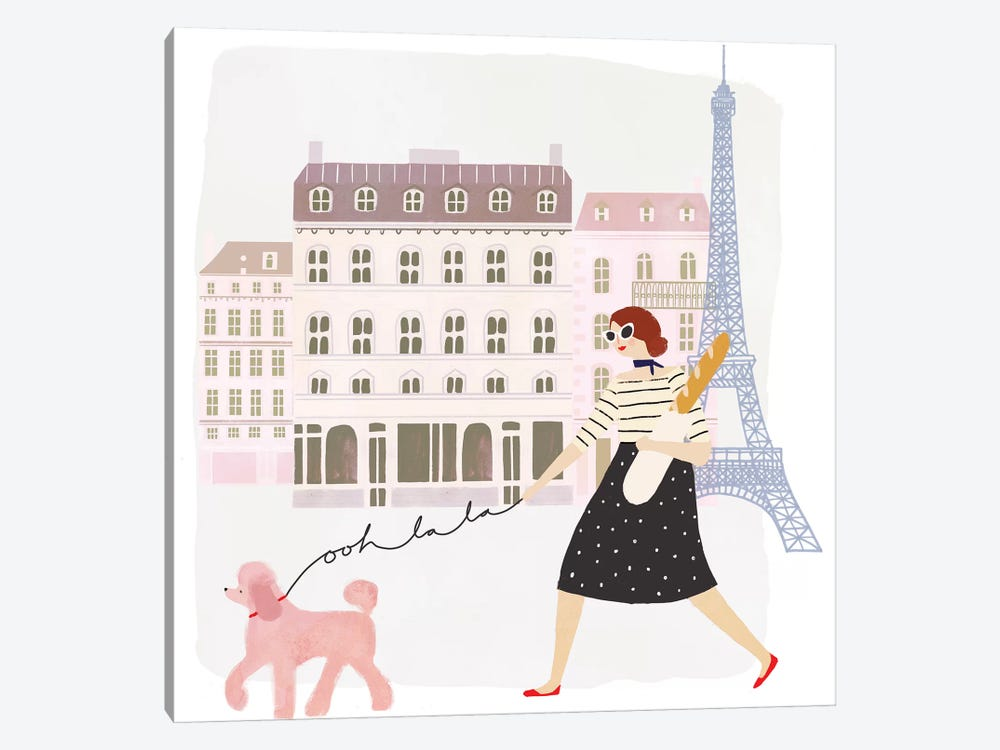 Paris People I by Victoria Borges 1-piece Canvas Art Print