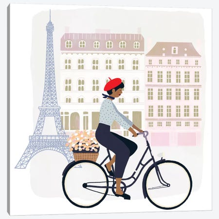 Paris People II Canvas Print #VBO244} by Victoria Borges Canvas Wall Art