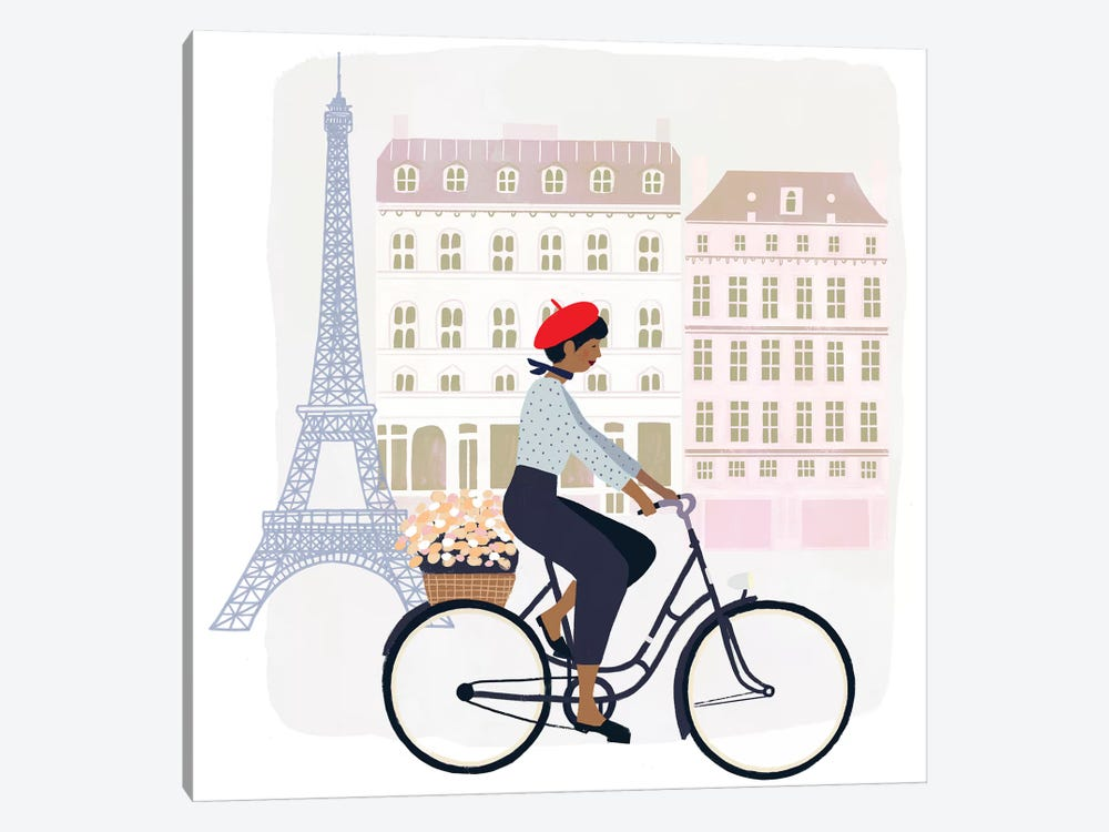 Paris People II 1-piece Canvas Wall Art