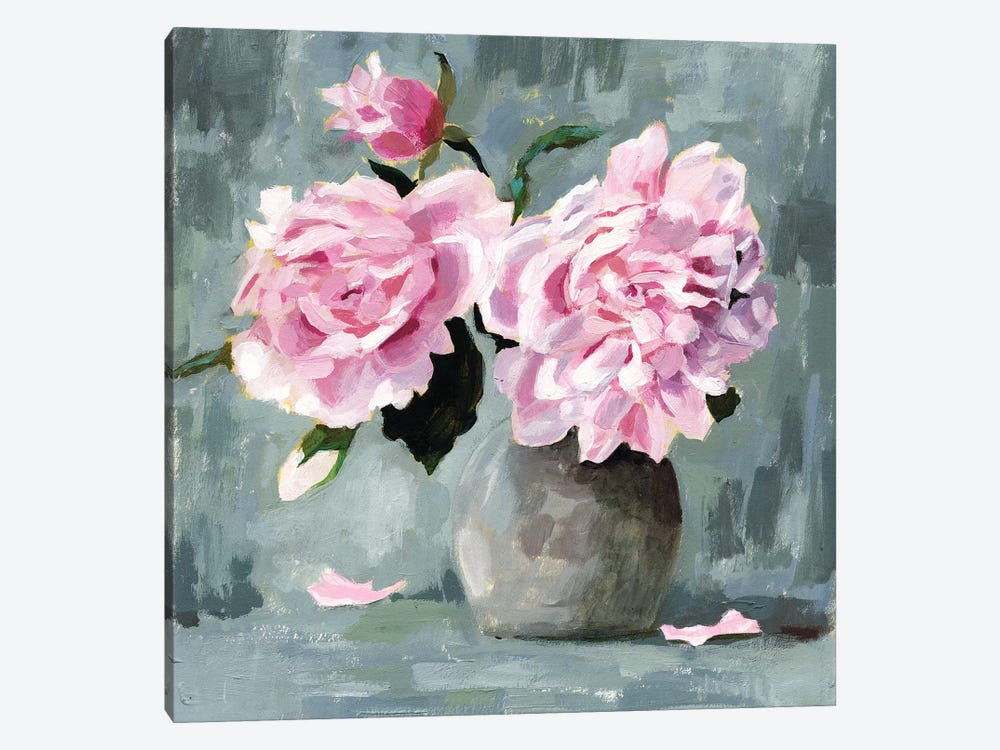Peony Study I by Victoria Borges 1-piece Canvas Art Print