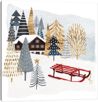 Christmas Chalet II Canvas Art Print