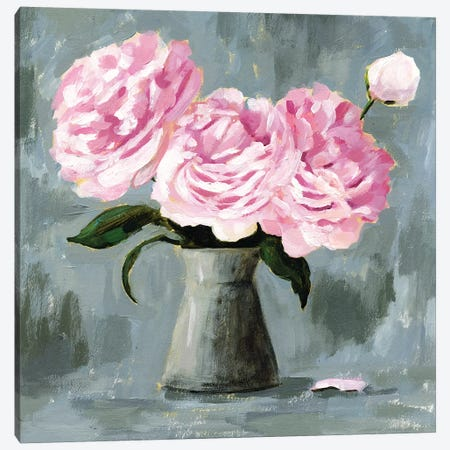 Peony Study II Canvas Print #VBO250} by Victoria Borges Canvas Artwork