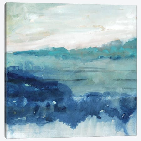 Sea Swell II 3-Piece Canvas #VBO260} by Victoria Borges Art Print