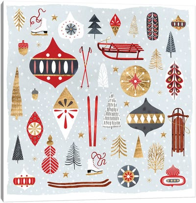 Christmas Chalet IV Canvas Art Print