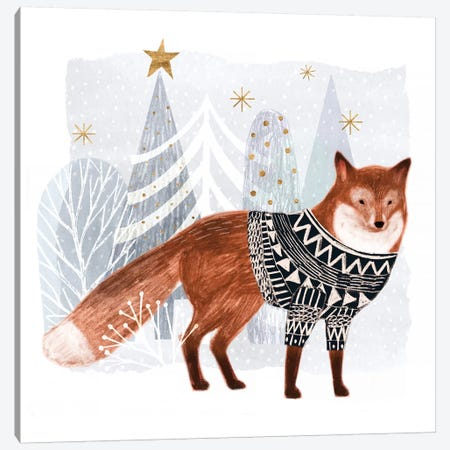 Cozy Woodland Animal I Canvas Print #VBO27} by Victoria Borges Canvas Artwork