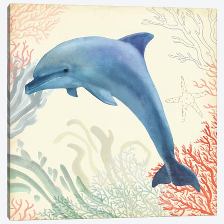 Underwater Whimsy II 3-Piece Canvas #VBO287} by Victoria Borges Canvas Wall Art