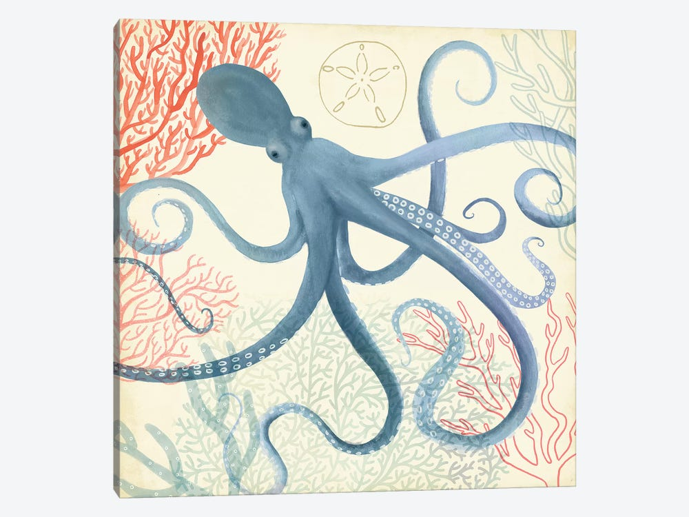 Underwater Whimsy III by Victoria Borges 1-piece Canvas Art