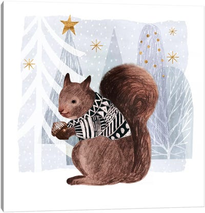 Cozy Woodland Animal II Canvas Art Print