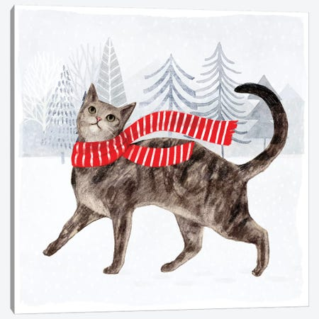 Christmas Cats & Dogs I Canvas Print #VBO292} by Victoria Borges Canvas Art