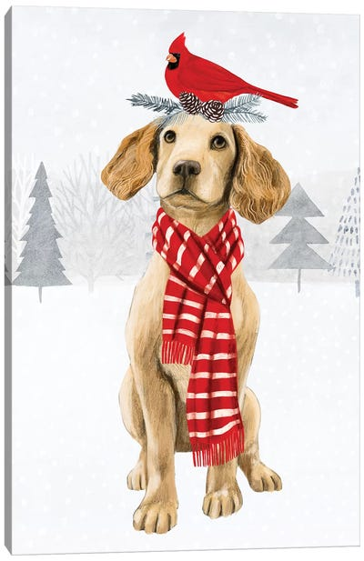 Christmas Cats & Dogs V Canvas Art Print
