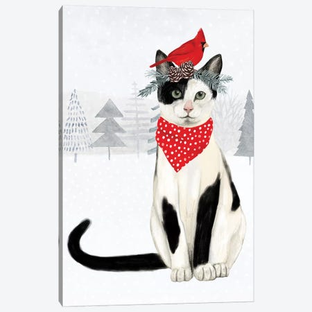 Christmas Cats & Dogs VI Canvas Print #VBO297} by Victoria Borges Canvas Art Print