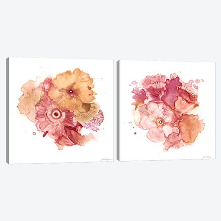 Blossom Burst Diptych Canvas Print Set #VBO2HSET001} by Victoria Borges Canvas Print