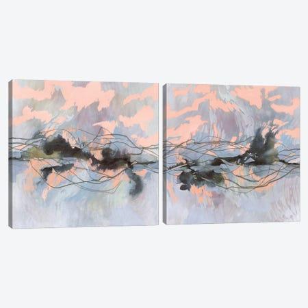 Horizon Flux Diptych Canvas Print Set #VBO2HSET005} by Victoria Borges Canvas Art