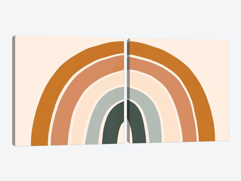 Retro Rainbow Diptych by Victoria Borges 2-piece Art Print