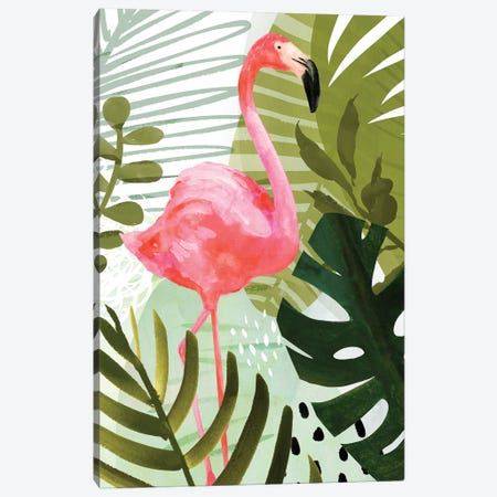 Flamingo Forest II Canvas Print #VBO303} by Victoria Borges Canvas Art