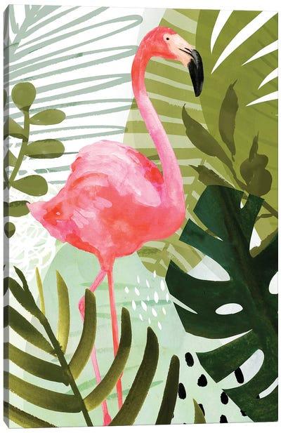 Flamingo Forest II Canvas Art Print