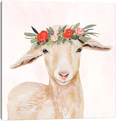 Garden Goat I Canvas Art Print