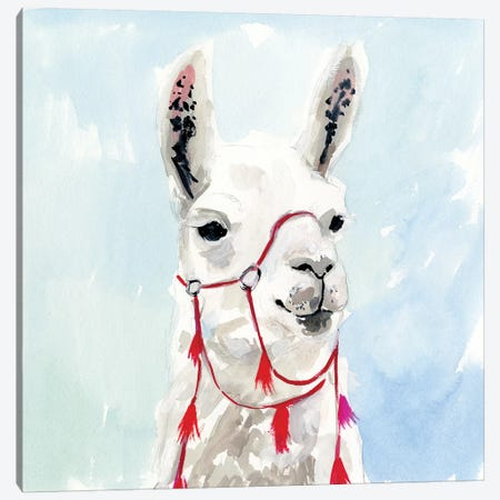 Watercolor Llama I Canvas Print #VBO354} by Victoria Borges Canvas Artwork