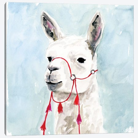 Watercolor Llama II Canvas Print #VBO355} by Victoria Borges Canvas Wall Art