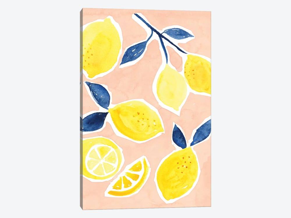 Lemon Love I by Victoria Borges 1-piece Canvas Art Print