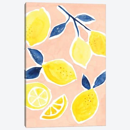 Lemon Love I Canvas Print #VBO362} by Victoria Borges Canvas Wall Art