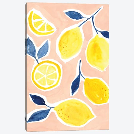 Lemon Love II Canvas Print #VBO363} by Victoria Borges Canvas Art