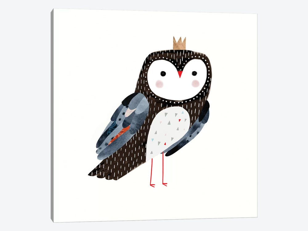 Crowned Critter I by Victoria Borges 1-piece Canvas Print