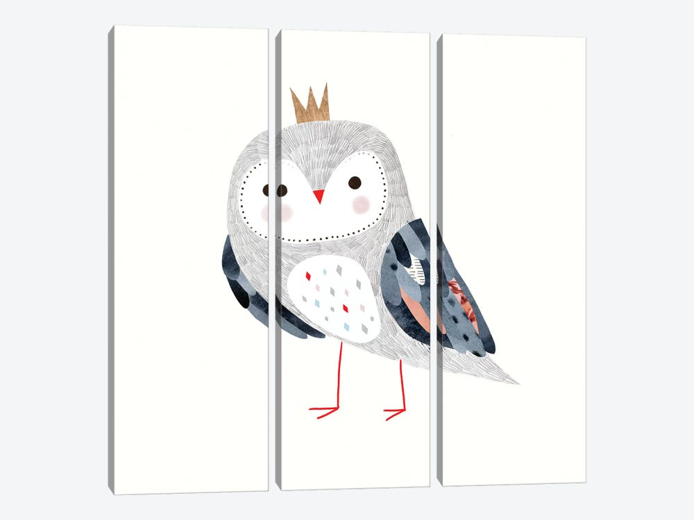 Crowned Critter II by Victoria Borges 3-piece Canvas Wall Art