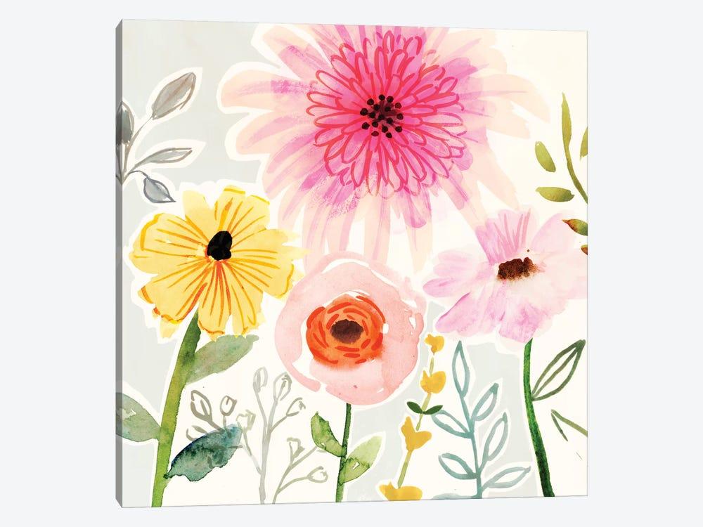 Floral Pop II by Victoria Borges 1-piece Canvas Artwork