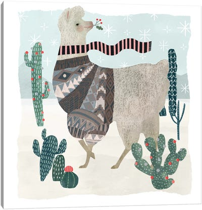 Holiday Llama I Canvas Art Print