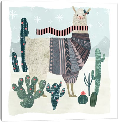 Holiday Llama II Canvas Art Print