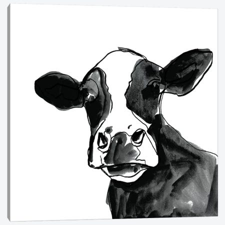 Cow Contour I Canvas Print #VBO415} by Victoria Borges Canvas Print